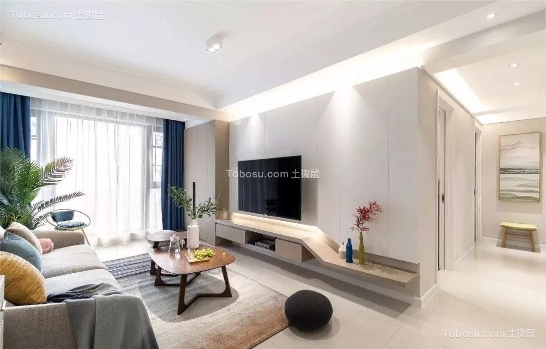 86㎡兩居室現代簡約風裝修效果圖