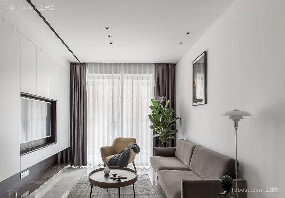 锦绣华庭92㎡简约北欧2室2厅,电视背景墙实用性逆天!