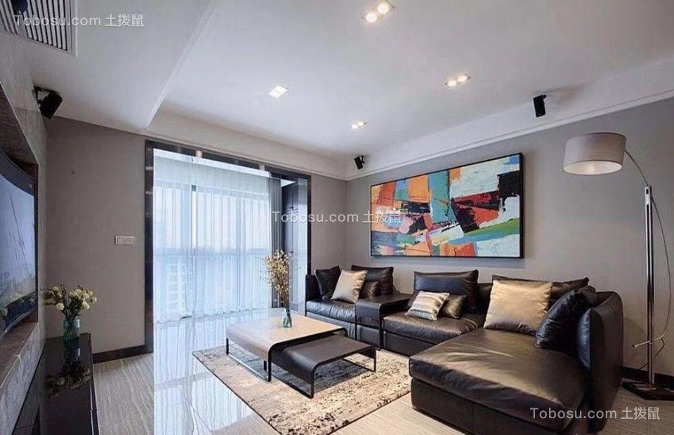 130㎡现代简约风,客厅这么装才有范儿!