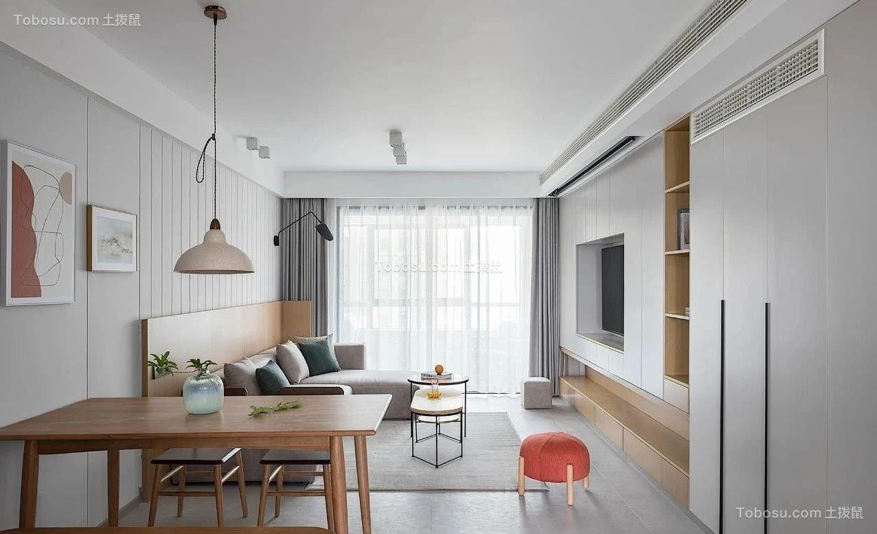 2021简约客厅装修设计 2021简约落地窗效果图