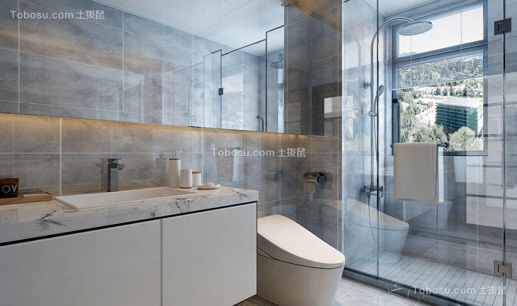 2021简约卫生间装修图片 2021简约浴室柜装修图片
