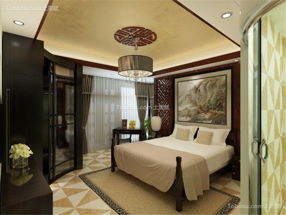 2021中式古典卧室装修设计图片 2021中式古典床装修效果图片