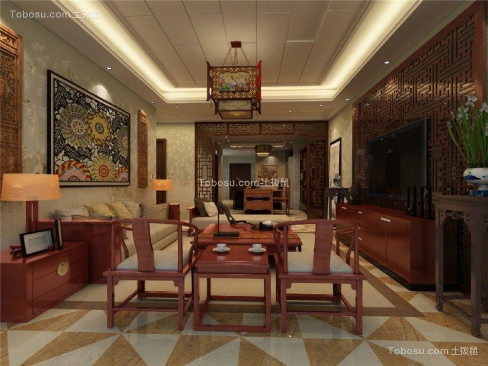 2021中式古典客厅装修设计 2021中式古典电视背景墙图片