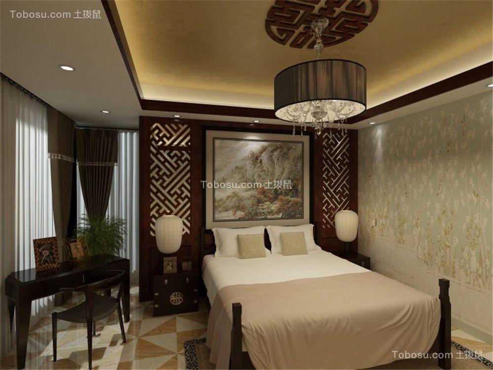 2021中式古典卧室装修设计图片 2021中式古典背景墙装修设计