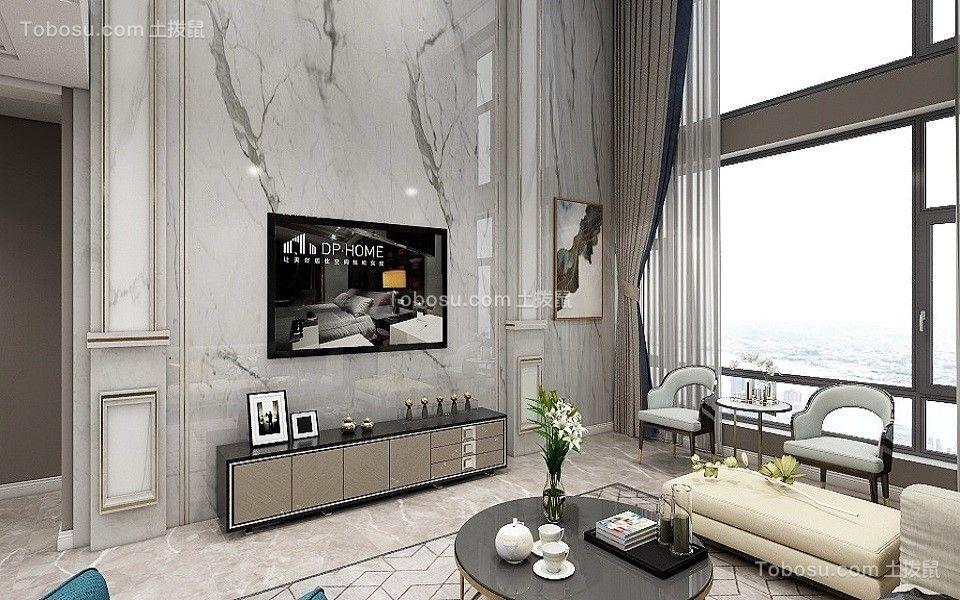 2021现代客厅装修设计 2021现代电视背景墙装修设计图片