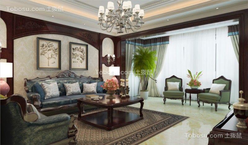 2021美式客厅装修设计 2021美式茶几装修效果图大全