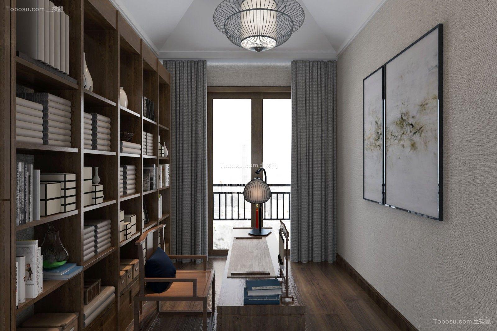 2021新中式书房装修设计 2021新中式书架装修图片