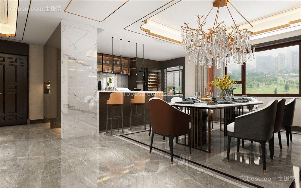 2021现代餐厅效果图 2021现代吊顶装修图片