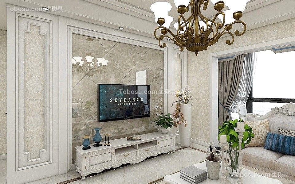2021简欧客厅装修设计 2021简欧电视背景墙装修设计图片