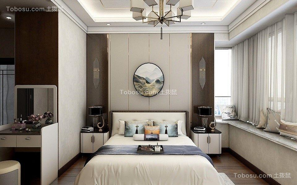2021新中式卧室装修设计图片 2021新中式照片墙装修图