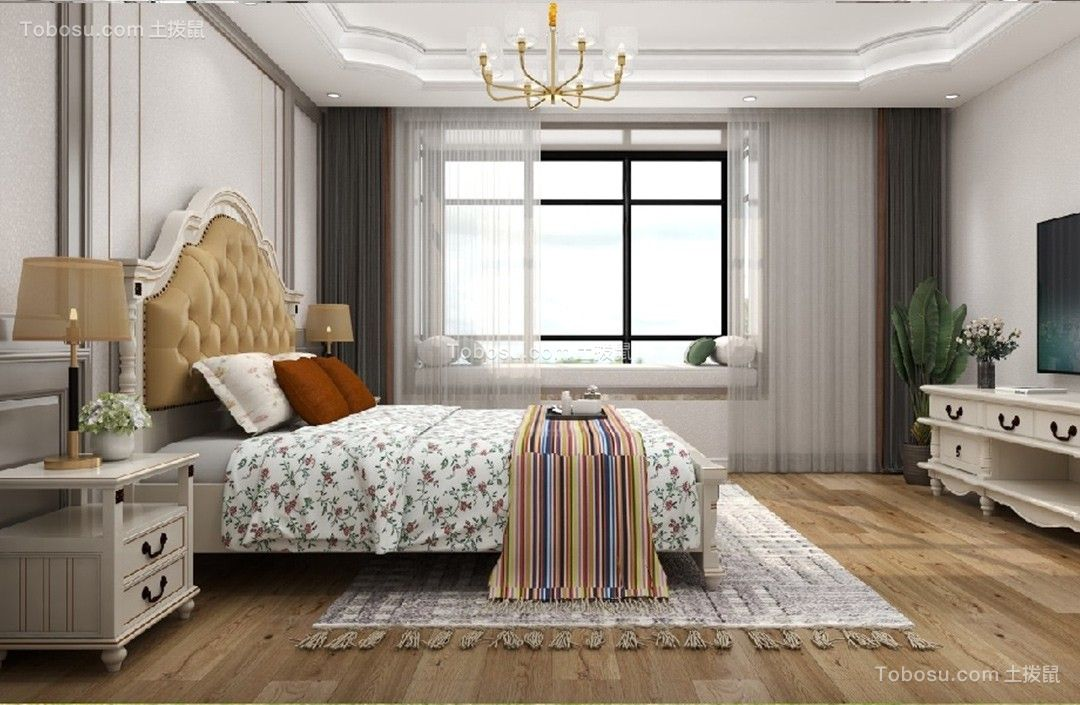 2021美式卧室装修设计图片 2021美式细节装修图