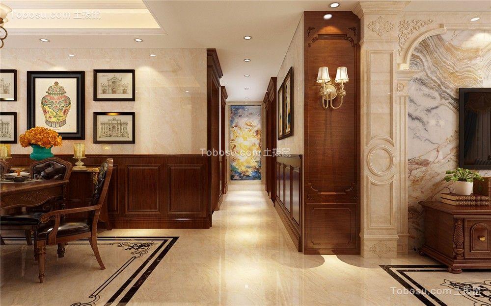 2021美式客厅装修设计 2021美式过道图片