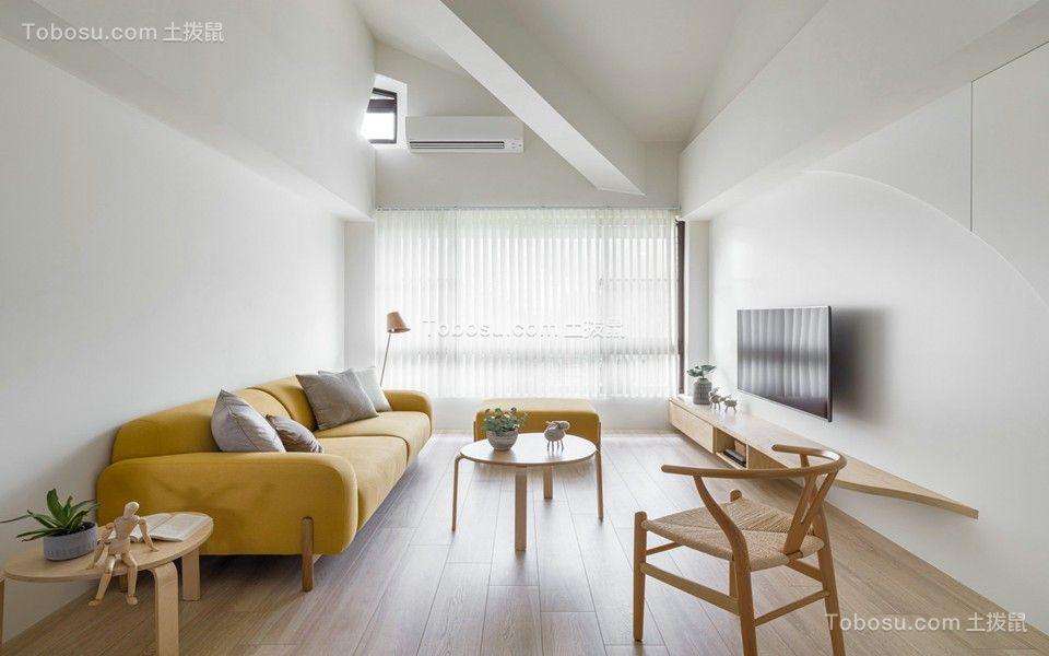 70平二居室现代简约风格装修效果图