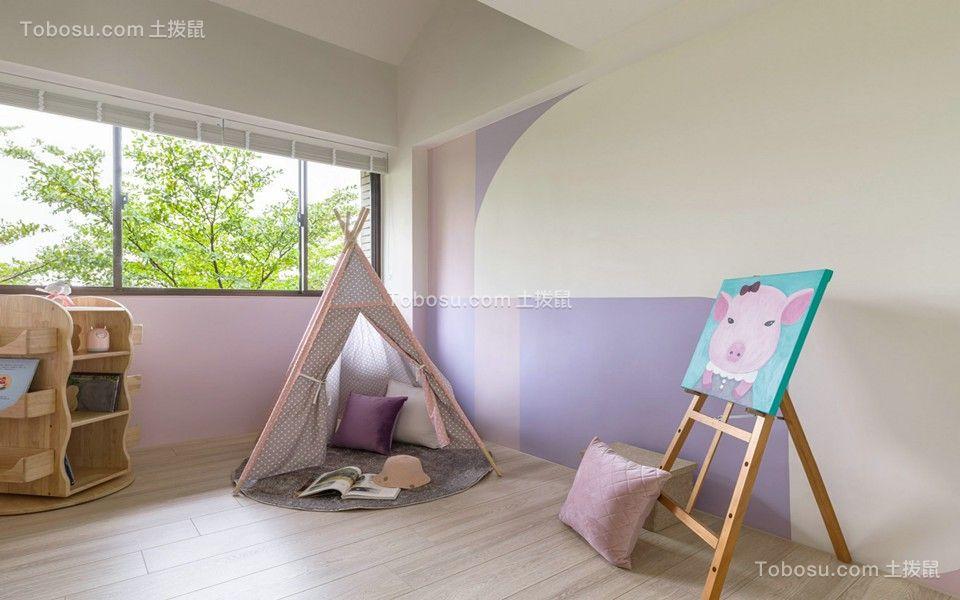 2021现代简约儿童房装饰设计 2021现代简约飘窗装修效果图大全