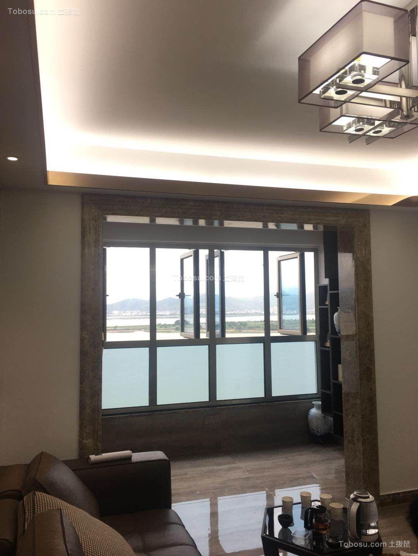 2021现代客厅装修设计 2021现代吊顶图片