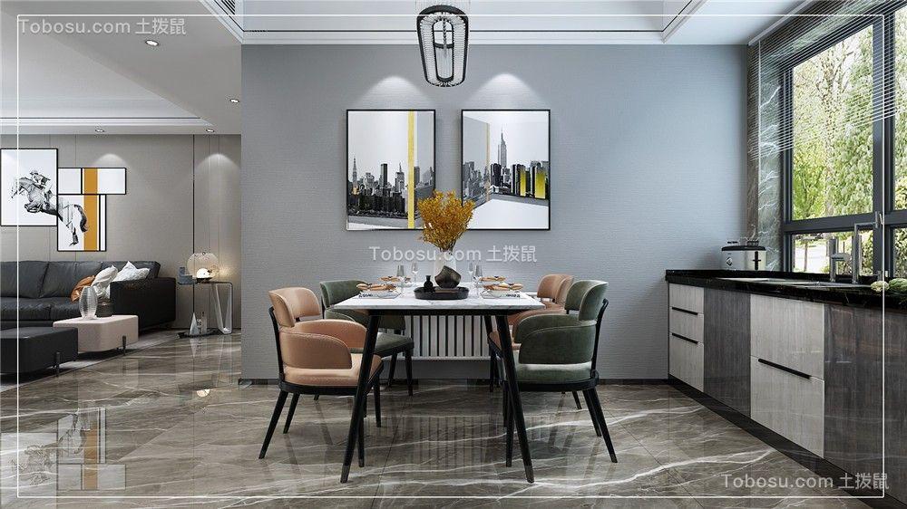 2021现代简约餐厅效果图 2021现代简约餐桌装修图片