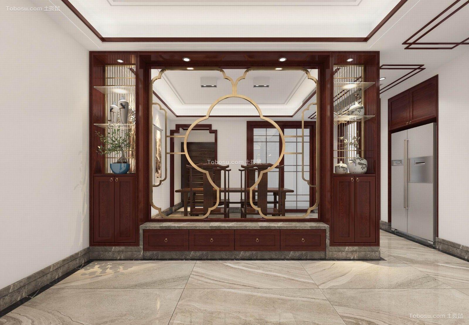 2021新中式餐厅效果图 2021新中式博古架装饰设计