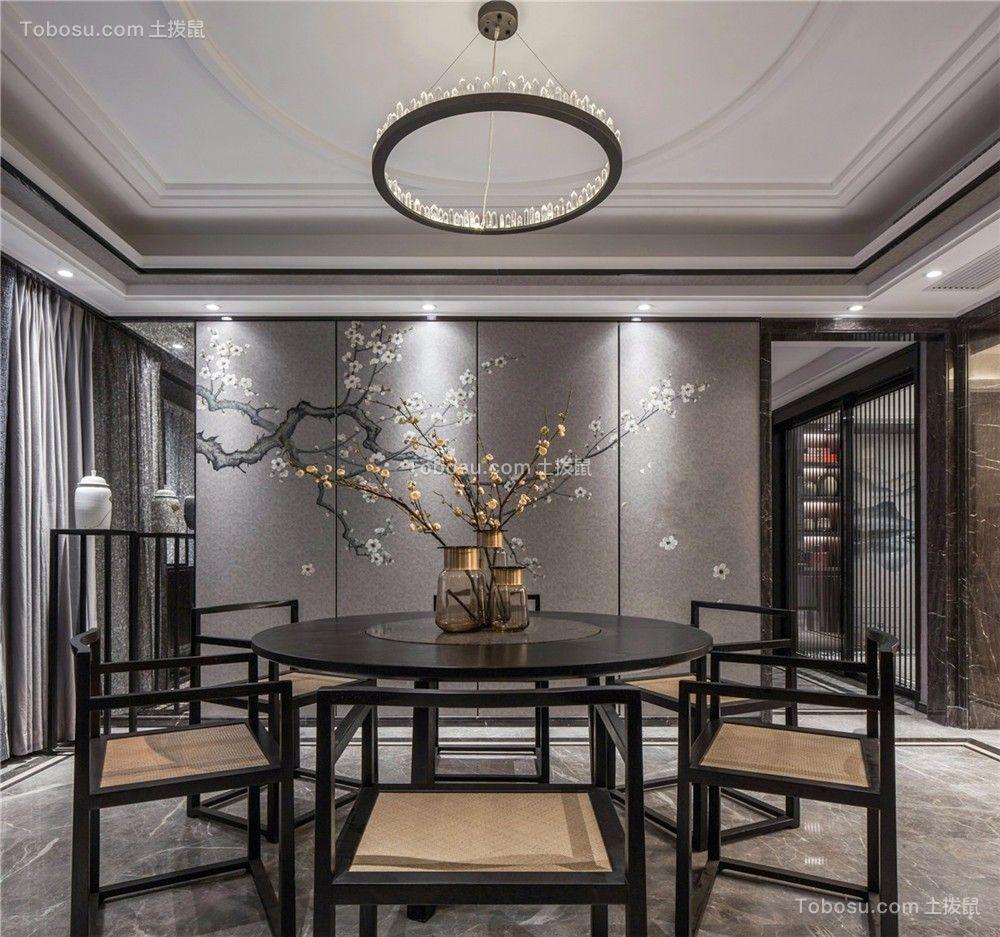 2021新中式餐厅效果图 2021新中式餐桌装修效果图片