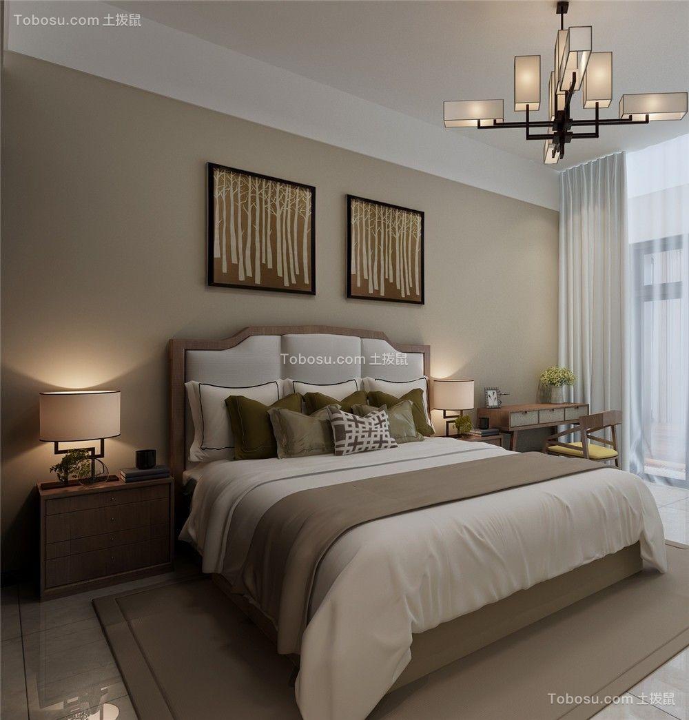 2021新中式厨房装修图 2021新中式床装修效果图片