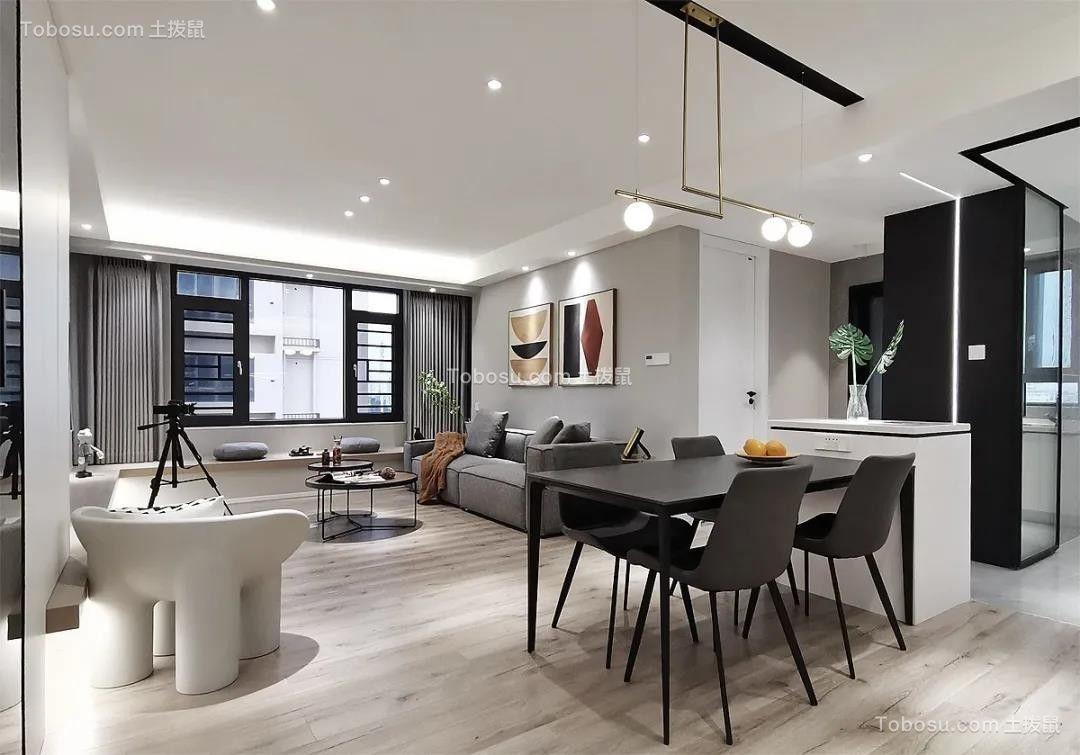 2021现代客厅装修设计 2021现代餐桌装修效果图片