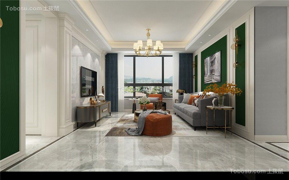 2021美式客厅装修设计 2021美式地板效果图