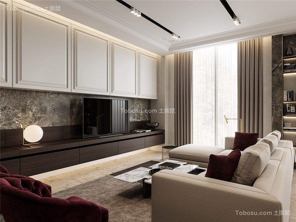 2021现代客厅装修设计 2021现代吊顶设计图片