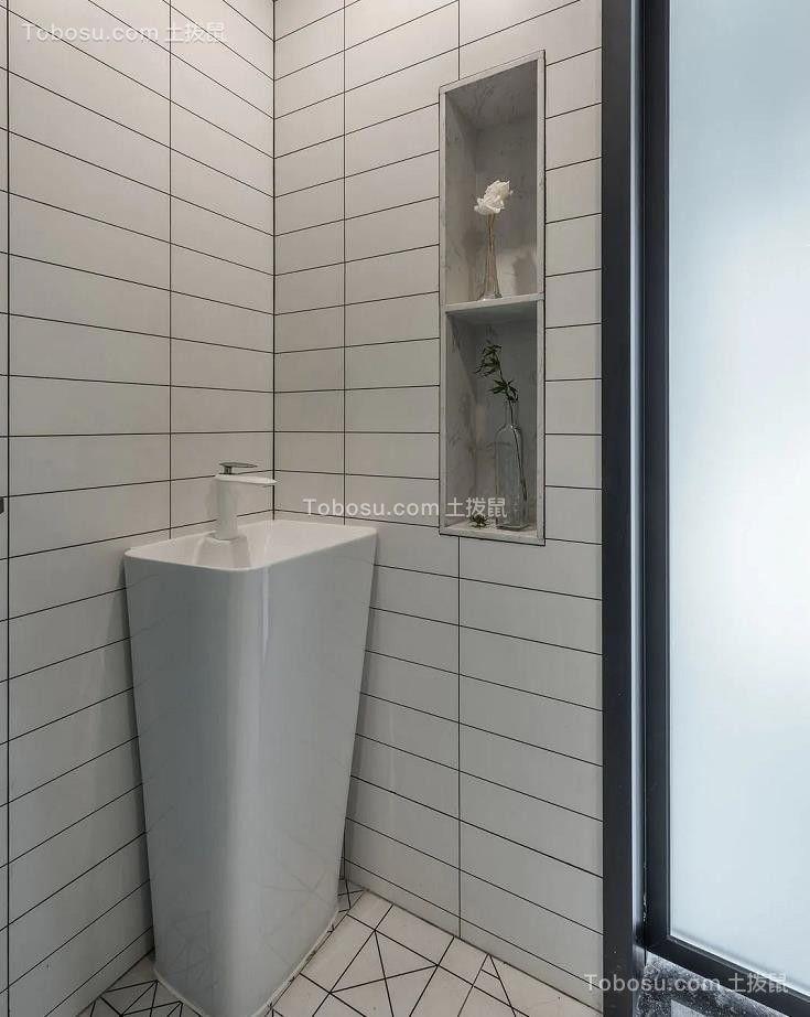 2021现代简约卫生间装修图片 2021现代简约洗漱台装修设计图片