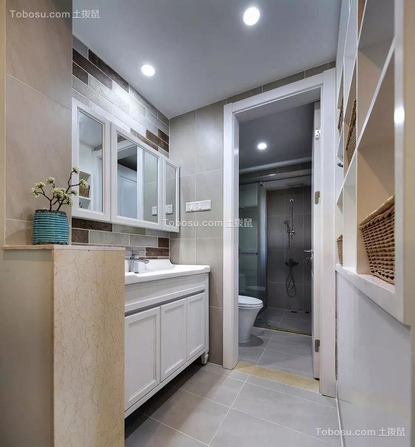 2021美式卫生间装修图片 2021美式背景墙装修设计