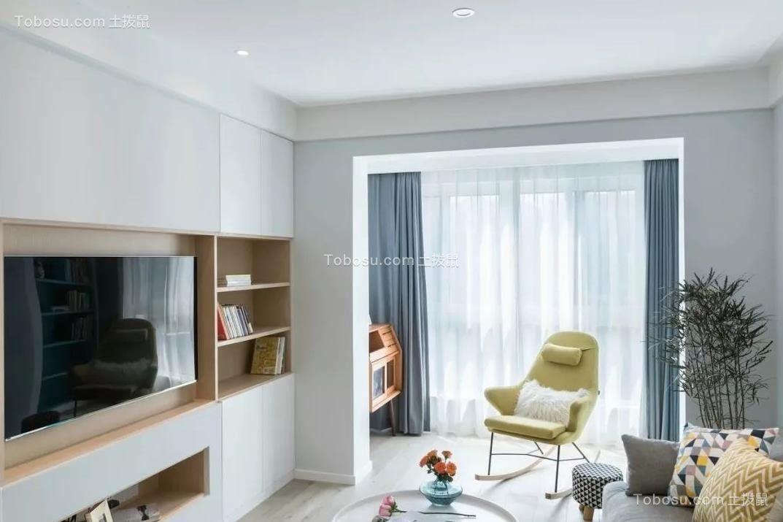 2021简约客厅装修设计 2021简约电视柜装修图片