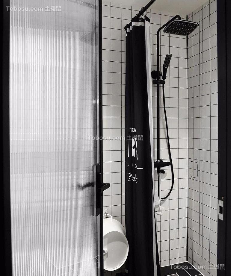 2021现代简约卫生间装修图片 2021现代简约淋浴房装修设计图片