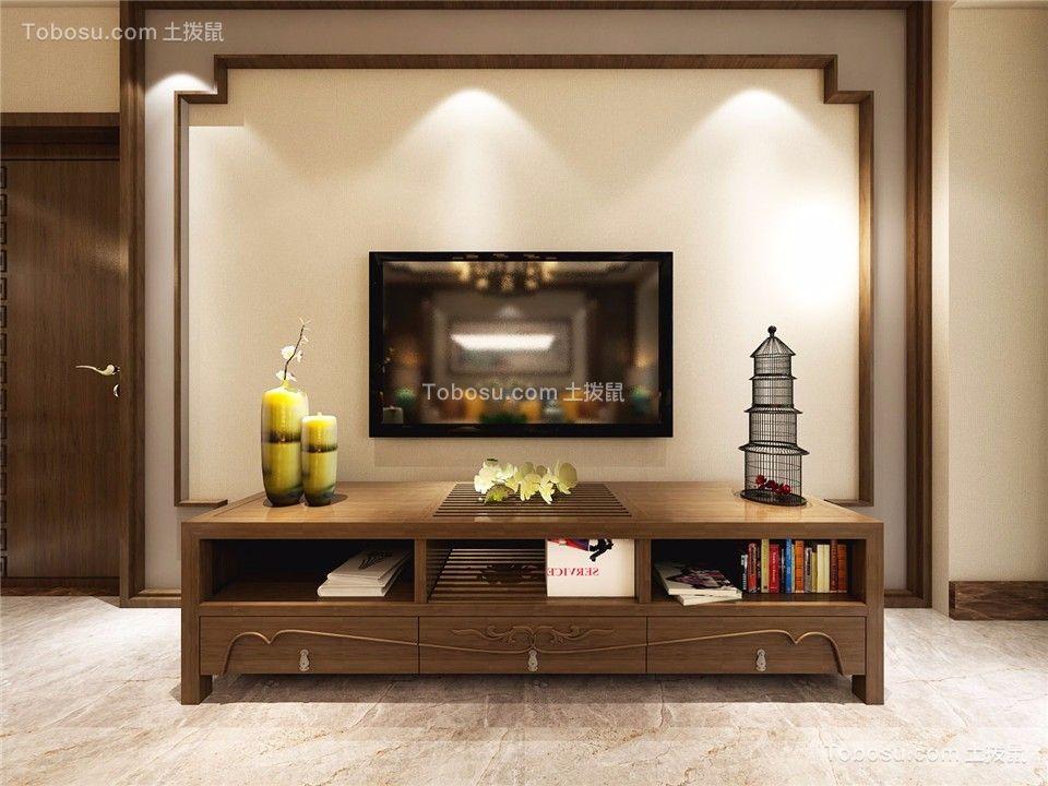 2021新中式客厅装修设计 2021新中式电视柜装修效果图片