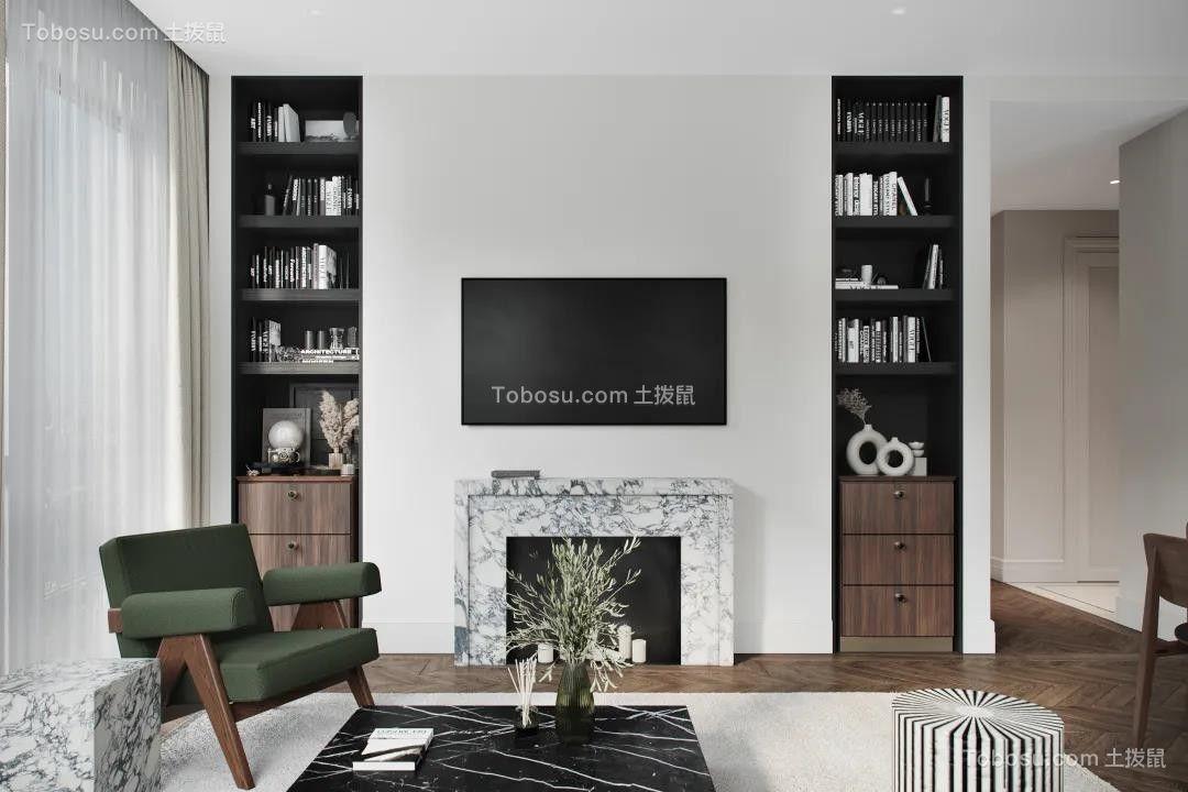 2021现代简约客厅装修设计 2021现代简约电视背景墙图片