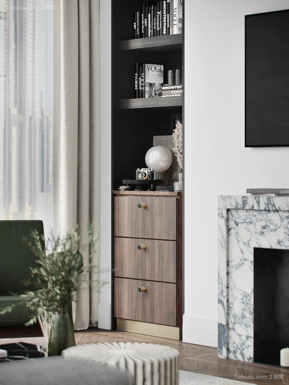 2021现代简约客厅装修设计 2021现代简约电视柜装修图片