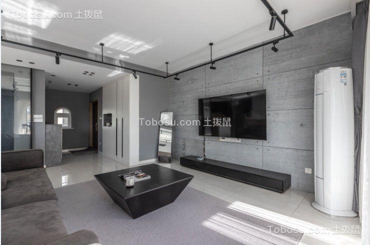 2021工业客厅装修设计 2021工业背景墙图片