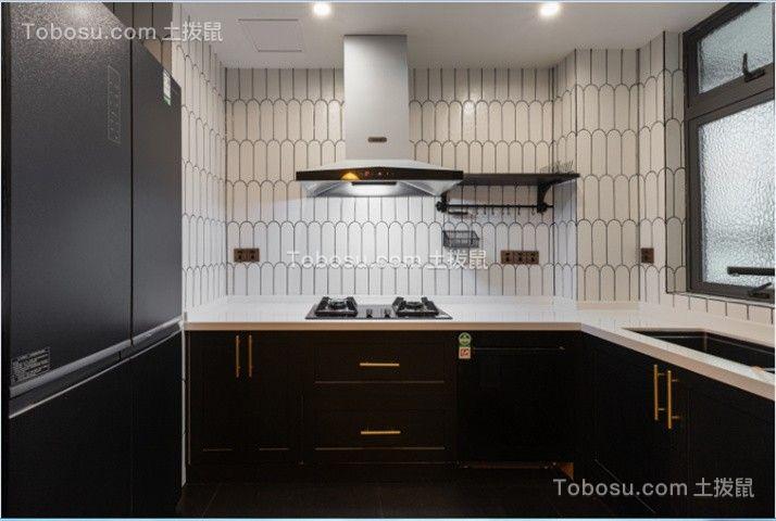 2021复古厨房装修图 2021复古橱柜装修效果图片