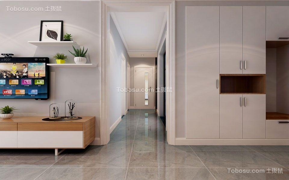 2021现代中式玄关图片 2021现代中式走廊装修效果图片
