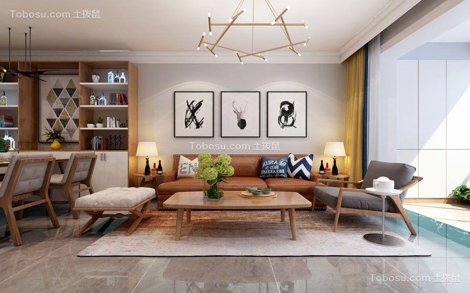 2021现代中式客厅装修设计 2021现代中式背景墙图片