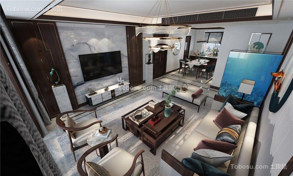 2021新古典客厅装修设计 2021新古典吊顶设计图片