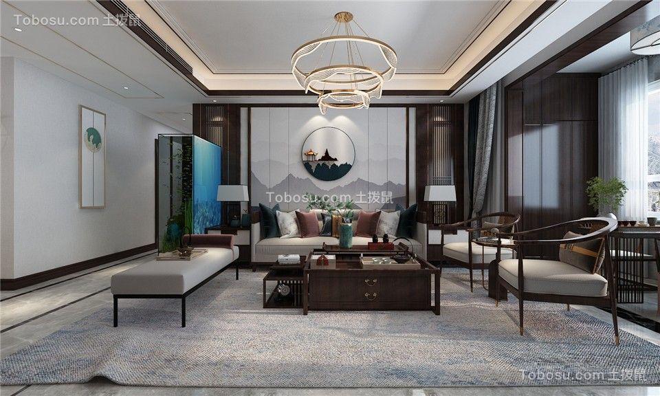 2021新古典客厅装修设计 2021新古典背景墙图片