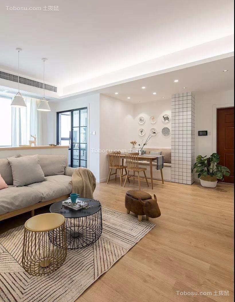 2021北欧客厅装修设计 2021北欧地板砖设计图片