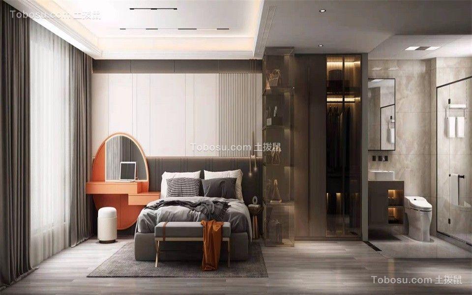 2021现代简约卧室装修设计图片 2021现代简约落地窗图片