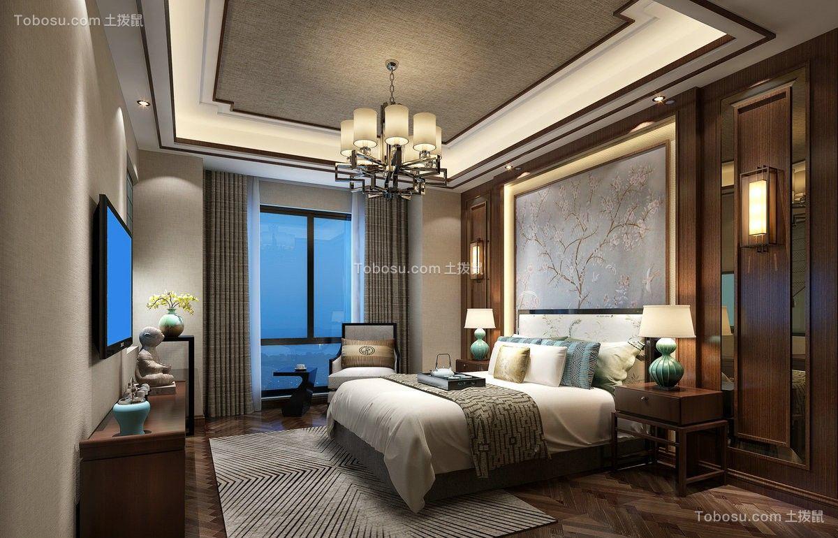 2021中式卧室装修设计图片 2021中式背景墙装饰设计