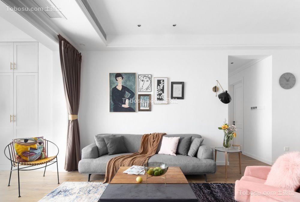 2021北欧客厅装修设计 2021北欧照片墙效果图