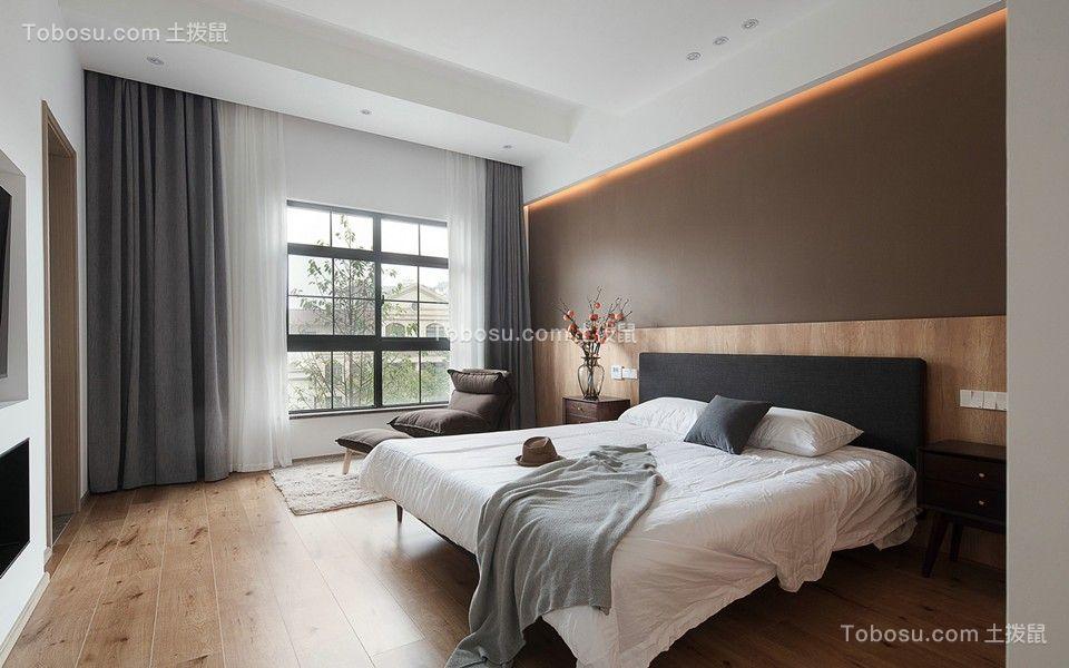 2021现代简约卧室装修设计图片 2021现代简约窗帘装修设计图片