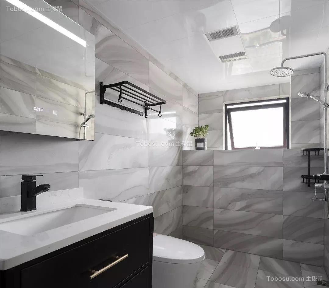 2021现代简约卫生间装修图片 2021现代简约浴室柜装修图片