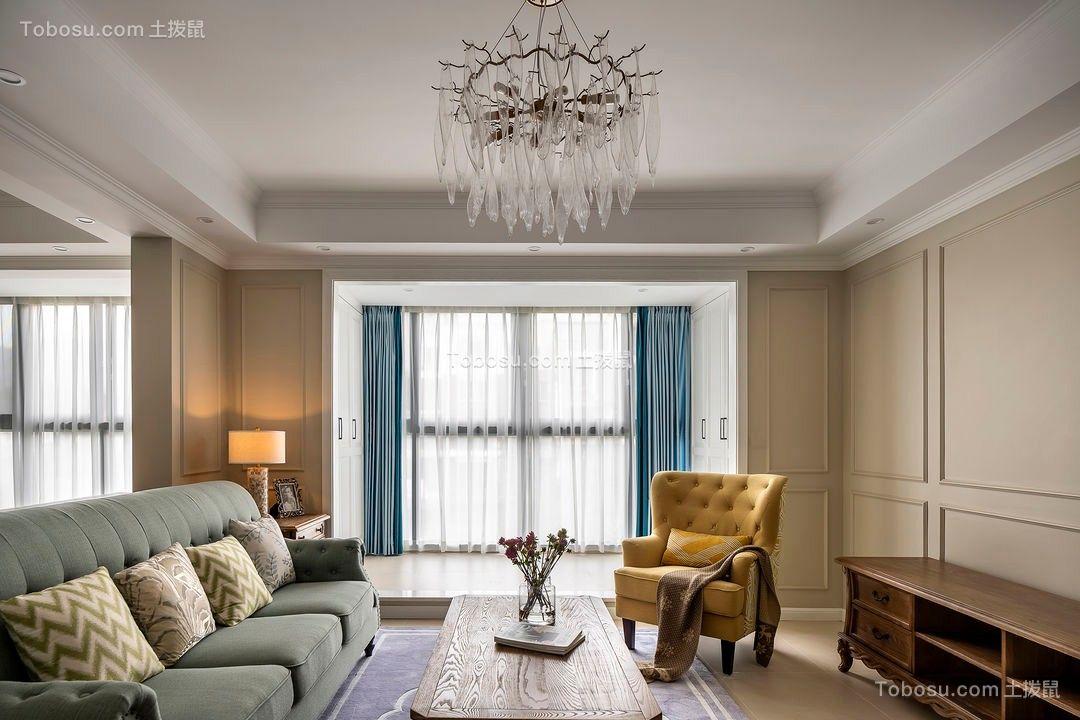 2021美式客厅装修设计 2021美式落地窗效果图