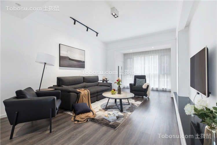 2021现代简约客厅装修设计 2021现代简约窗帘装修图