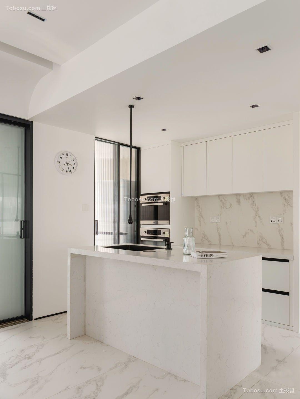 2021现代简约厨房装修图 2021现代简约厨房岛台效果图