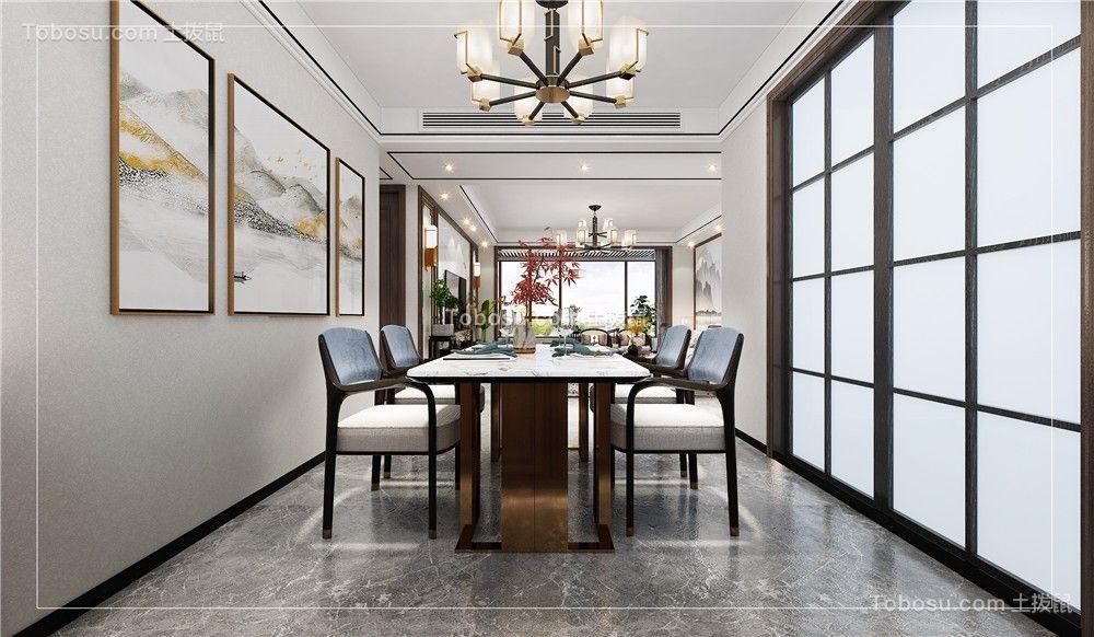2021新中式餐厅效果图 2021新中式餐桌装修图片
