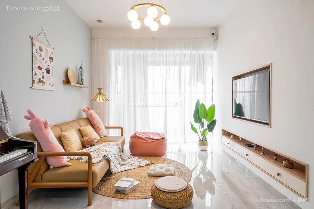 这大概是我见过最温柔的家,67平两房一厅,用简装诠释生活